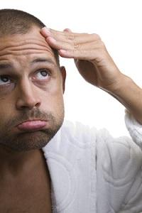När börjar man tappa hår
